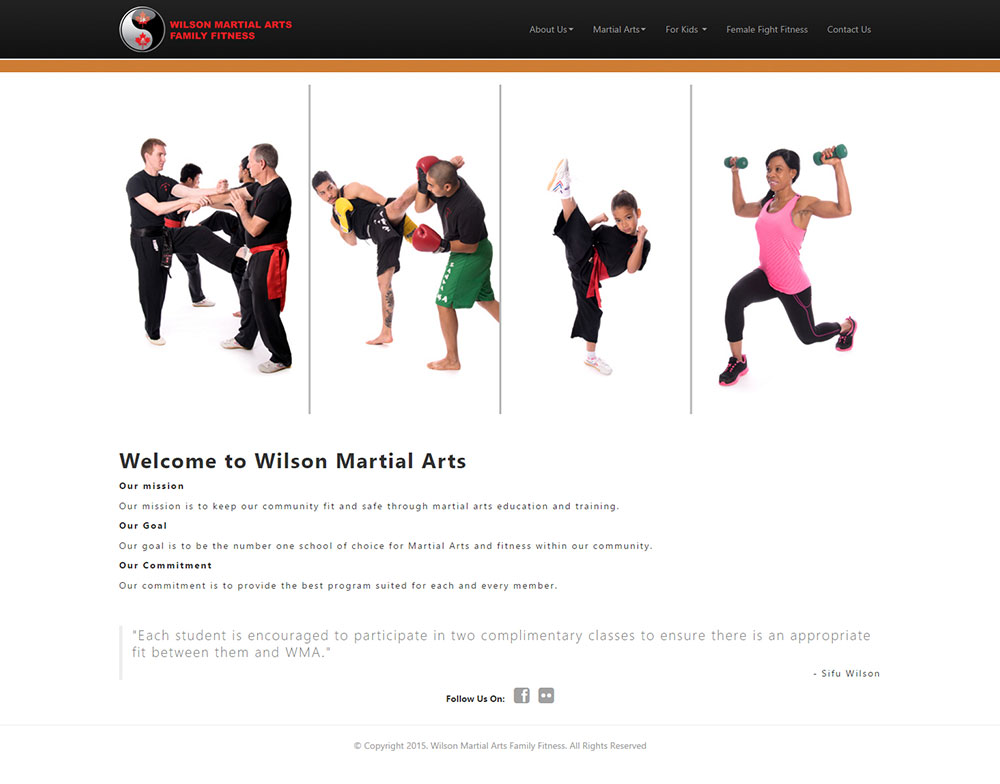 Wilson Martial Arts Home Page